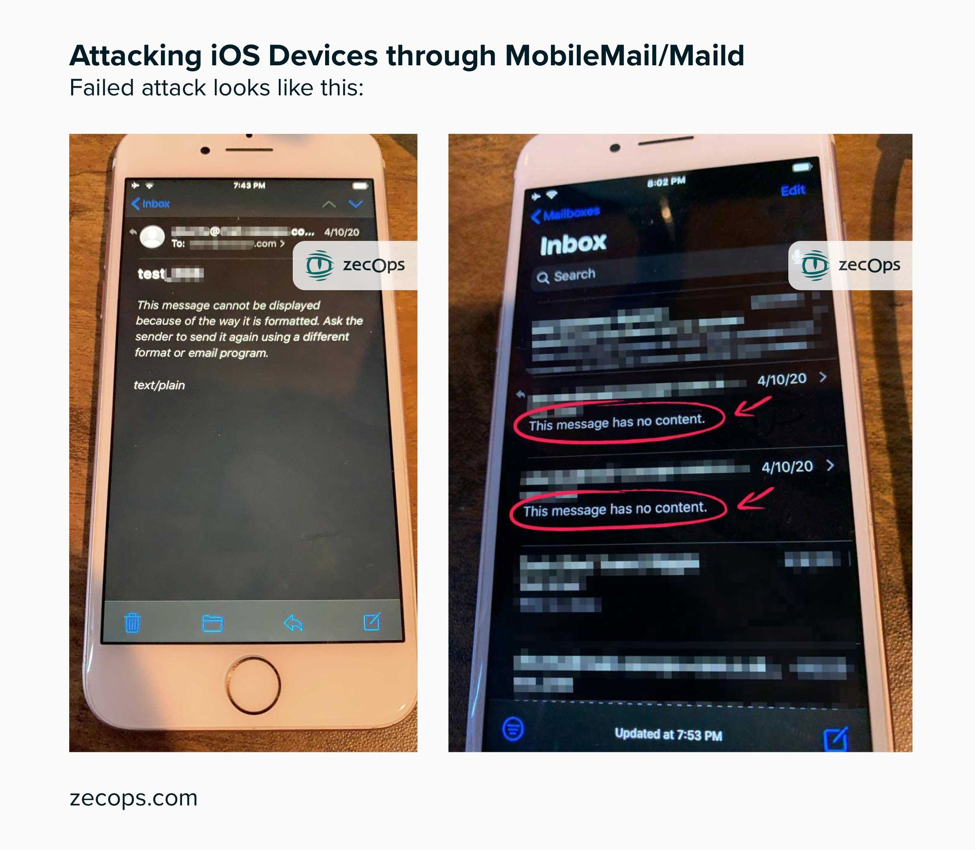 iPhone Hacked by Email