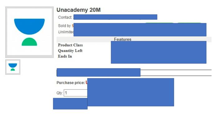 unacademy hacked - data dump sale
