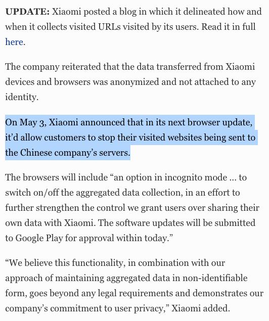 Xiaomi Data Leak