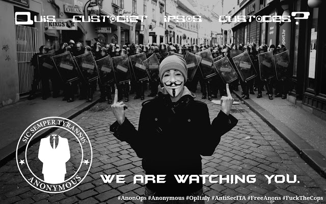 Anonymous Hacked Italian Police