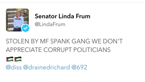 Linda Frum Twitter account hacked by MF Spank Gang