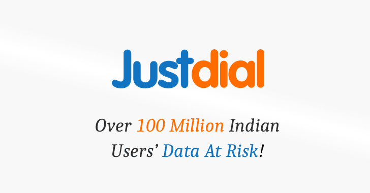 JustDial Faces Multiple Data Breaches: Confirmed by a Researcher - Over 100 Million Users Data Compromised