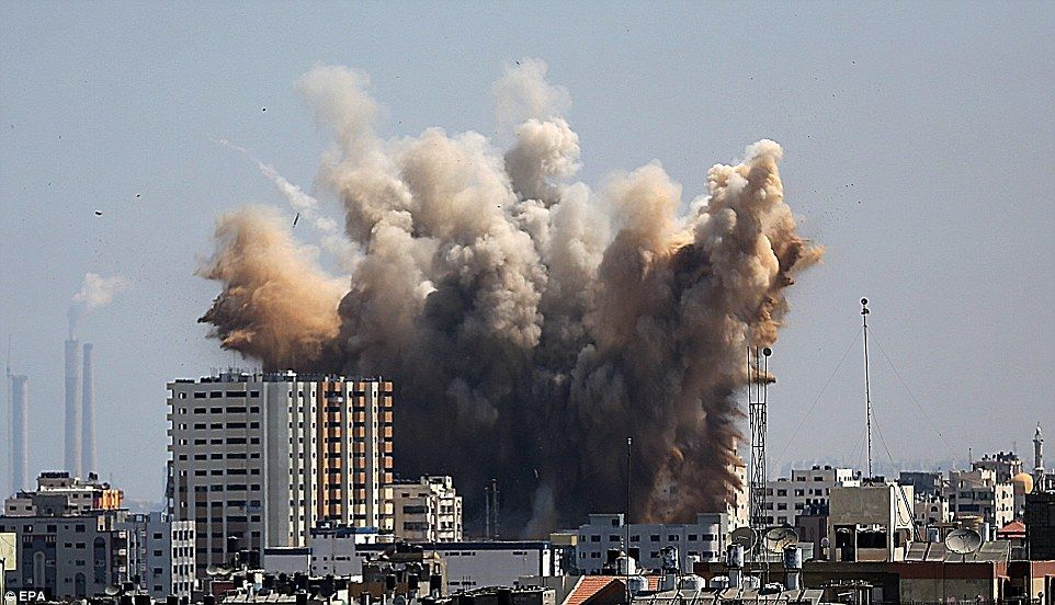 Israel Military Hits Back At Gaza in Response to Cyber Threats Concerning National Security and 600 Rockets Launched at Israel