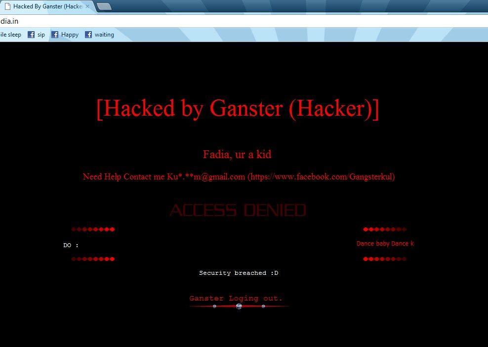 Ankit Fadia site again Hacked