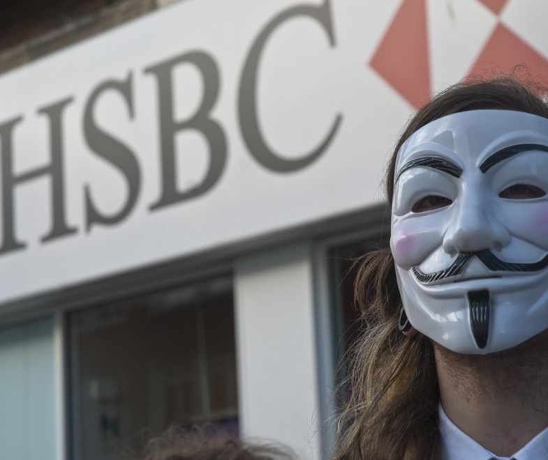 Anonymous took down HSBC by DDOS attack
