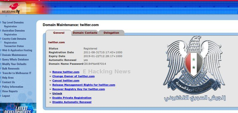 Melbourne IT Server hacked - Twitter, Nytimes, HuffingtonPost Compromised