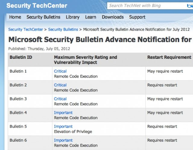 Microsoft to patch three critical vulnerabilities