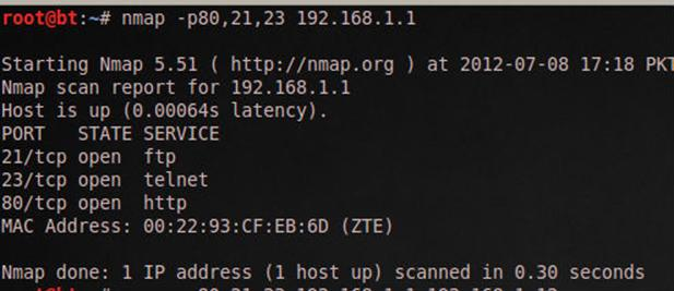 Download Nmap 6.25