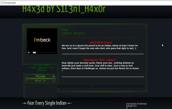 Forward.pk hacked by Silent Hacker