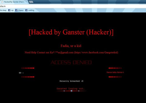 Ankit Fadia site again Hacked