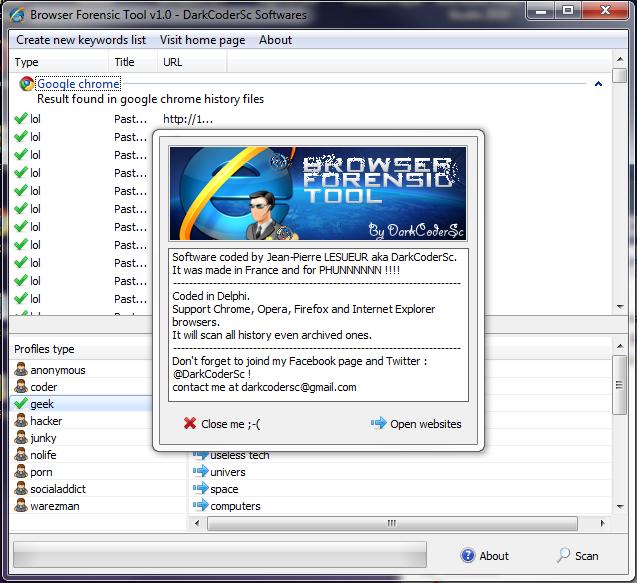 Browser Forensic Tool v2.0 - Download