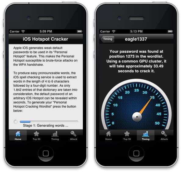 Cracking iPhone Hotspot password in 50 Seconds