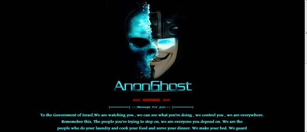 Israel Websites Hacked by AnonGhost