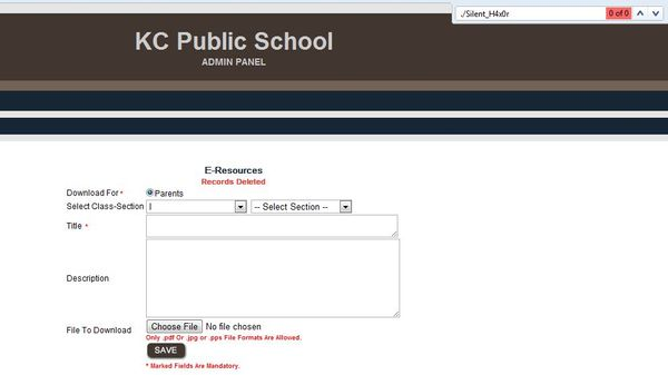 KCPS Hacked by Silent Hacker