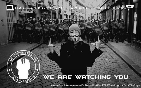 Anonymous leaked Italian State Police Data